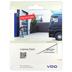 Image of VDO Front Panel Activation Card